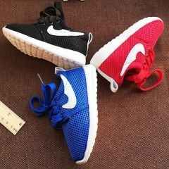 Fashion Nike Children Shoes Flat Heel Breathable Boy Sports Shoes Mesh Girl Casual Brand Shoes Black blue 21