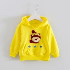 Children's Clothing Boys Hoodies & Sweatshirts Cartoon Kids Coats Long Sleeve Girls Jacket yellow 90