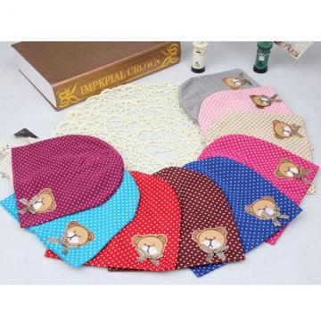 Warm Cotton Newborn Baby Girls Bear Hat Crochet Baby Boy Caps Cute Boys Girls Accessories wine red one size