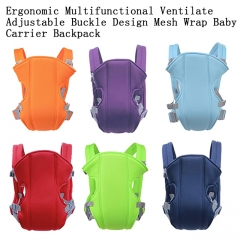 Ergonomic Multifunctional Ventilate Adjustable Buckle Design Mesh Wrap Baby Carrier Backpack purple one size