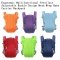 Ergonomic Multifunctional Ventilate Adjustable Buckle Design Mesh Wrap Baby Carrier Backpack blue one size