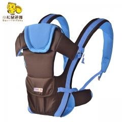 Ergonomic Multifunctional Ventilate Adjustable Buckle Design 100% Cotton Baby Carrier Backpack Red (no belt) one size