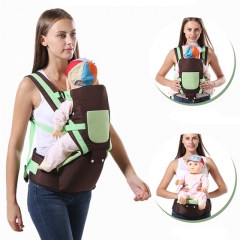 Ergonomic Multifunctional Ventilate Adjustable Buckle Design Mesh Wrap Baby Carrier Backpack white one size