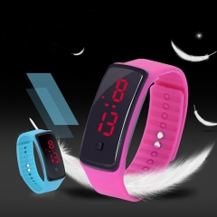 Waterproof LED Digital Bracelet Watch for Students Boys Girls Electronic Watch white