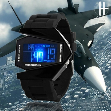 Fashion Children 's Watches Waterproof Boys Girls Watches Sports Electronic Students Watch black
