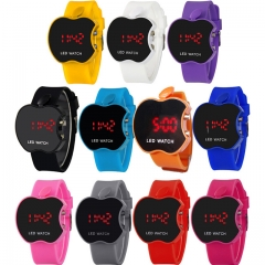Fashion Iphone Children 's Electronic Watches Boys Girls LED Digital Bracelet Watches For Students blue