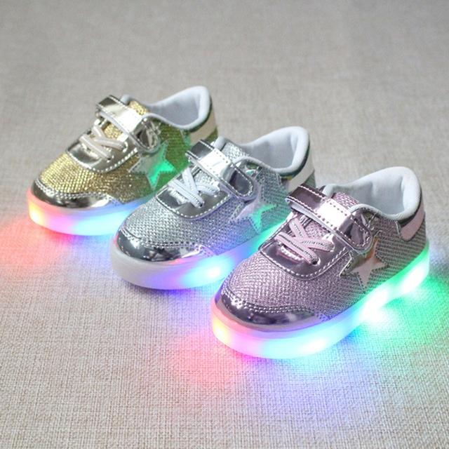 44431a48e Kilimall  Fahison Breathable LED Light Children Shoes Soft-soled ...