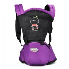 Ergonomic Multifunctional Ventilate Adjustable Buckle Design Mesh Wrap Baby Carrier Backpack blue one size
