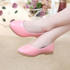 Fashion Girl Children's Shoes Leather Lovely Princess Shoes Low To Help Anti-skid Girl Dress Shoes pink 26