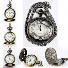 Fashion Pocket Watch Carved Hollow Boy Electronic Watches Clamshell Beautiful Girls Watch white