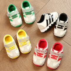 Same Adidas Children Shoes Flat Heel Boy Sports Shoes Leather Breathable Brand Girl Athletic Shoes red 15