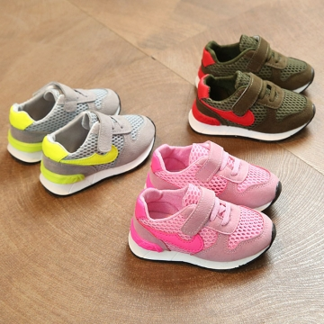 Brand Athletic Shoes LED Light Up Children Shoes Baby Girl Sport Shoes Nike Non-slip Boy Sneakers pink 25