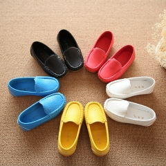Brand PU Leather Casual Shose Soft Flat Bottom Children Girl Casual Shoes white 26
