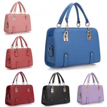 High Quality PU Women Leather Handbags Fashion Famous Brand Designer Bags Women Bag black 30cm*12cm*20cm