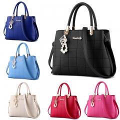 Fashion Leather Women Handbag Casurl Ladies Shoulder Bag Messenger Bag black one size