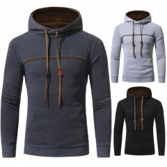 2017 Fashion Hip Hop Men Hoodies Casual Men Hooded Solid Color Hoodies Sweatshirt Male Jaskets Black M