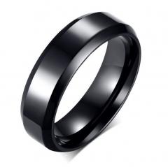Titanium Steel Diamond Couple Rings Men And Women Ring Black Stainless Steel Jewelry black 6