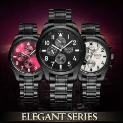 Top Brand Luxury Men Watches Fashion Waterproof Ultra Thin Black Stainless Steel Wrist Watches black 100g