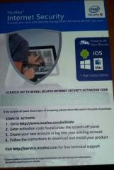 McAfee® AntiVirus Plus 1-year subscription