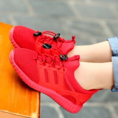 Children Shoes  Sport Sneakers 2017 Autumn  Breathable Casual Boys Shoes Popular Network Girls Shoes red US10.0(16.0CM)