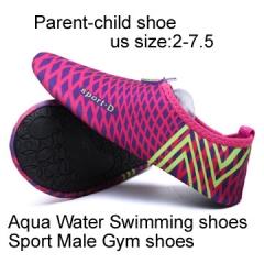 Parent-child shoe Aqua Water Shoes Swimming For Women &Men &children Wading Shoe Sandals  Male Gym fushia XXXS(19.5-20.CM)