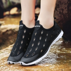 Lovers shoes  2017 Summer Casual Shoes Men Quickly-dry Wading Shoes  Beach Hollow Shoes black us5.5(22.5cm)