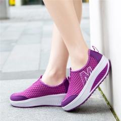 2017 Summer style Women casual shoes women's swing shoes  single elevator shoes purple us3(22.5cm)