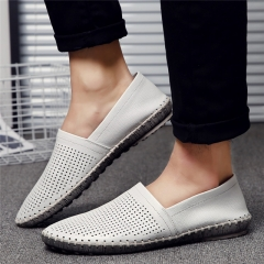 New Men's Sandals Hole More Beach Sandals Cut-Outs Outdoor Wading Shoes Breathable Cushion white us5(24.5cm)