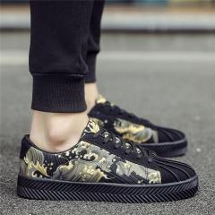 Low help shoes rubber soles shoes 2017 men's casual shoes Breathable comfortable absorb sweat light black us7.5(27.0cm)