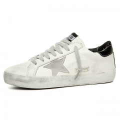 Spring Summer Breathable Lace Up Unisex Sport  Shoes Trainers  Hombre Basket Femme Flat Lovers black us5.5(22.5cm)