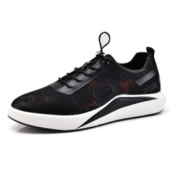 2017 New Summer Breathable Shoes Men Flat shoes  Fashion Men Shoes  Casual Shoes black/red us8(25.0cm)