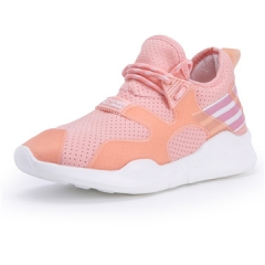 2017 Fashion Flats Women Trainers Breathable Sport Woman Shoes Casual Outdoor Walking Flats shoes pink us5.5(22.5cm)