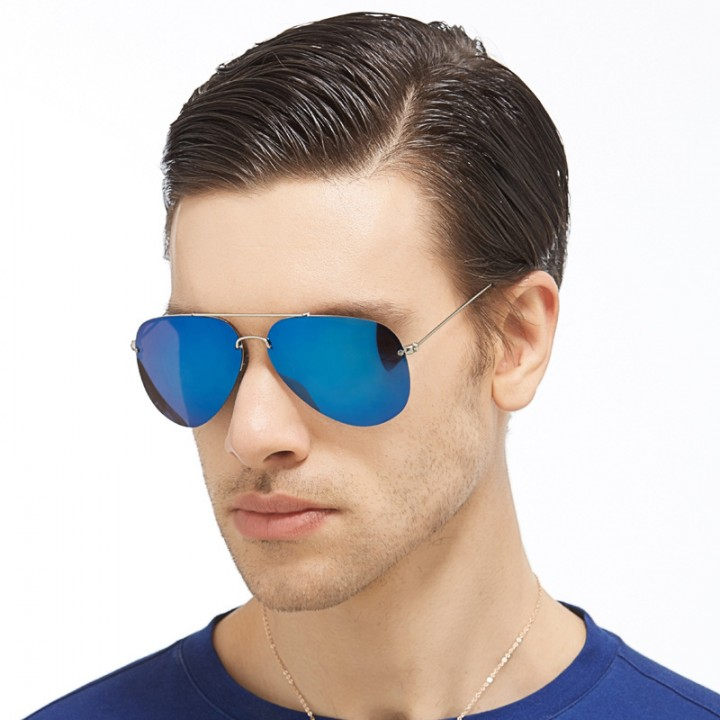 Men and Women Polarized  Sunglasses and Coating Sunglasses FSK219 Blue Coating Lense one size