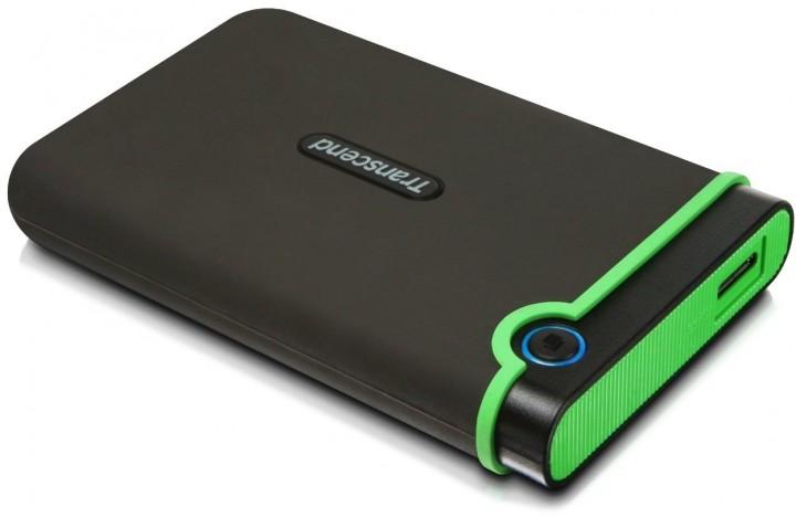 Transcend 500GB 2.5 inch USB 3.0 Military-Grade Shock Resistance Portable Hard Drive - TS500GSJ25M3 black, 500GB