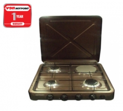 Hotpoint O-431.C 3 Gas 1 Electric Cooker - Copper