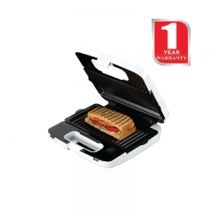 KENWOOD Sandwich Maker Grill-Griddle & Waffle (SM 650) White