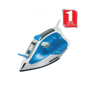 Von Hotpoint Dry Steam and Spray Iron Box (HSI2223CB) -2000W Blue
