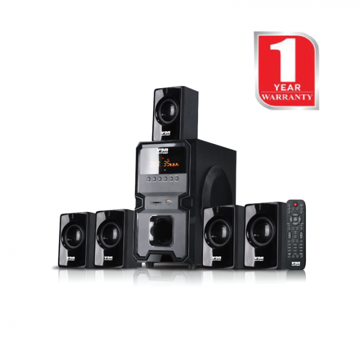 Von Hotpoint 5.1 Channel Surround System Bluetooth Subwoofer (HA11050BT)-Black