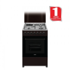 SIMFER 3 Gas + 1 Electric Cooker (5312NEB) - Brown