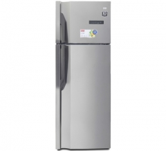 VON HRN-502S/VART-50NGK Double Door Fridge, Top Mount Freezer, 350L silver, 350L