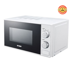 VAMS 20MGW - Microwave Oven, Solo, 20L Mechanical white, 20l 2500 watts