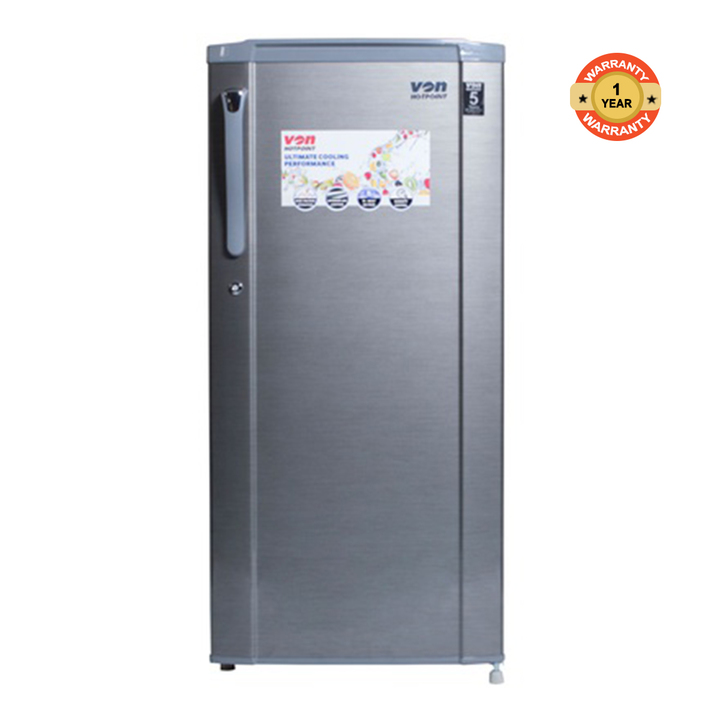 HRD-191S - Single Door Refrigerator - 7Cu.Ft - 170 Litres silver 170 litres
