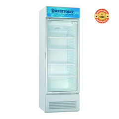 WPX 227TG - 7.8 CuFt - Tropicalised Vertical Cooler With Glass Door white 198 litres
