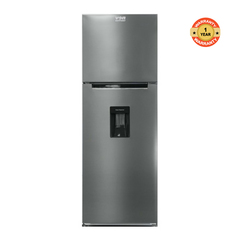 HRD-422S Double Door Refrigerator, Top Mount Freezer - 311L silver 311l