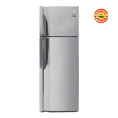 VON HRN-352S/VART-35NGK Double Door Fridge, Top Mount Freezer, 311L silver 311litres