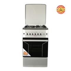 F5N31E2.S.E/VAC5F031PS - 3 Gas Burner  1 Electric Hotplate Cooker - Silver