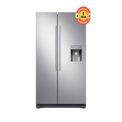 Samsung RS52N3B13S8 Side by Side Fridge, 520L silver 520 litres
