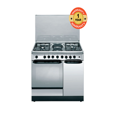 Ariston C911 N1 (X)/S 4 Gas + 2 Electric Combination Cooker - Stainless Steel