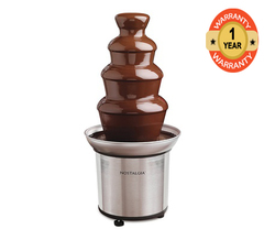 Nostalgia CFF986RR 4-Tier Chocolate Fondue Fountain - Stainless Steel Stainless Steel