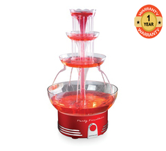 Nostalgia DBF15RR Lighted Party Fountain - Retro Red red